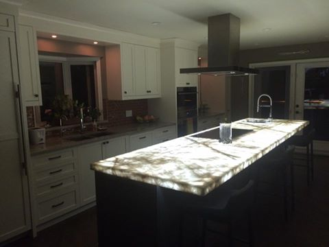 How to install LED Panels under Onyx - Corian - Stone